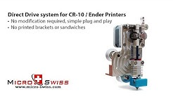 Micro Swiss Direct Drive Extruder for Creality CR-10 / Ender Printers