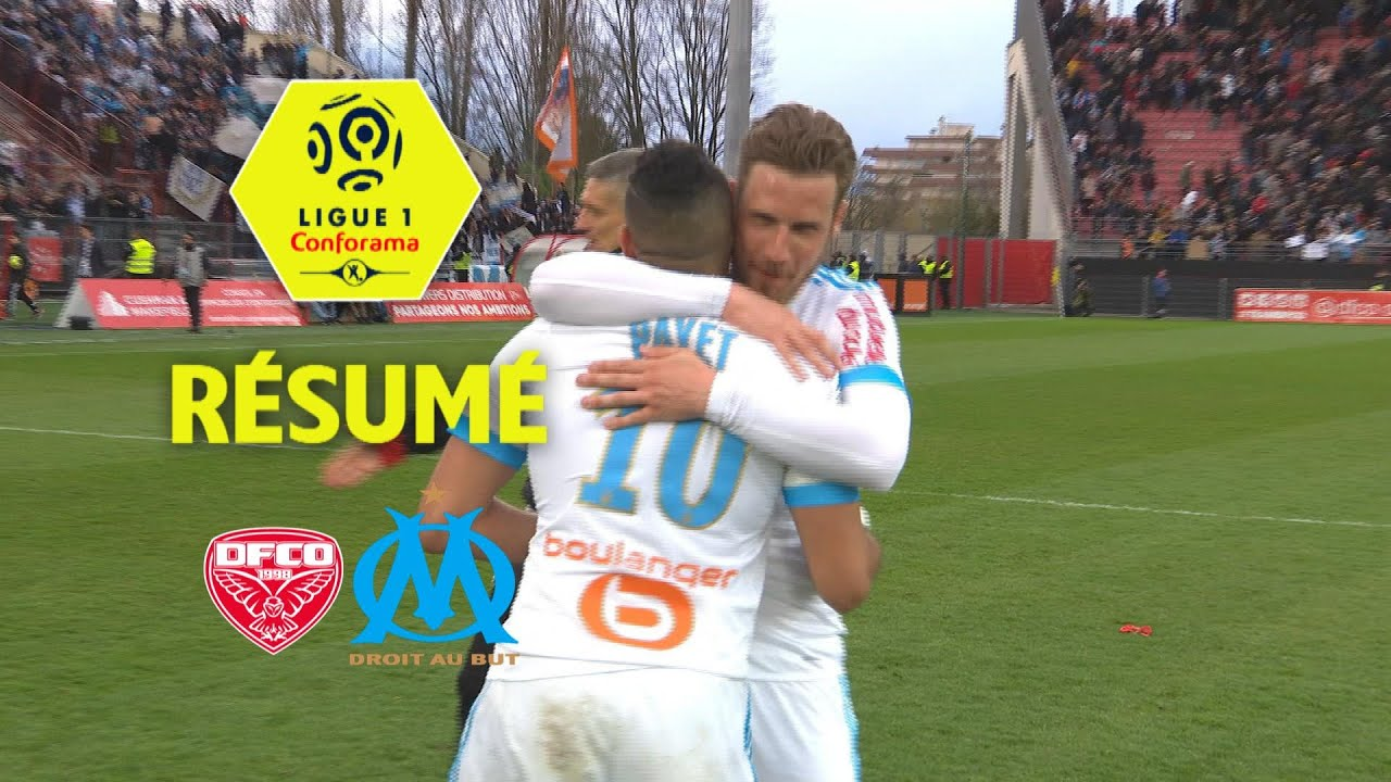 dijon fco olympique de marseille 1 3 r sum dfco om 2017 18 youtube. Black Bedroom Furniture Sets. Home Design Ideas