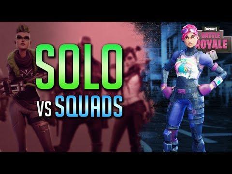 Solo Versus Squads!! (Fortnite Rank #1 Battle Royale)