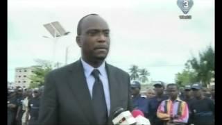 Visite du Maire de Rosny sous Bois et de Lehady SOGLO à la police municipale de Cotonou