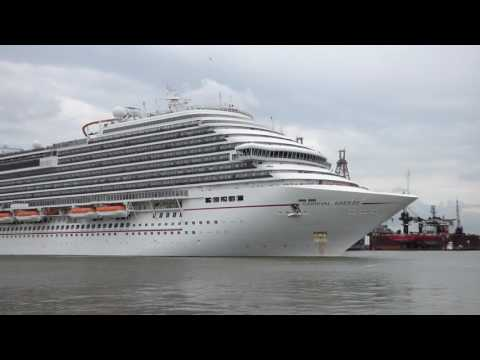 Carnival Breeze Departing from Galveston, Texas 2016
