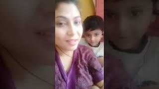 "Parbin Pori Singing "" Dil Ka Dariya "" With Her Son Rayan Roz Ahmed"