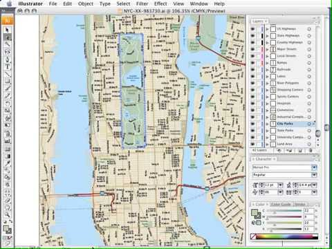 US City Maps Adobe Illustrator Vector Format Map Resources - Us city map