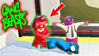 SHE TRIED TO EAT ME!! Funniest Fighting Game Ever - GANG BEASTS (Funny Moments)