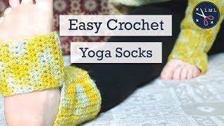 Easy Crochet Yoga Socks! Step By Step Crochet Tutorial   | Last Minute Laura