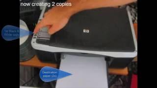 How to make copies using a HP Multifunction printer (Deskjet F2180)