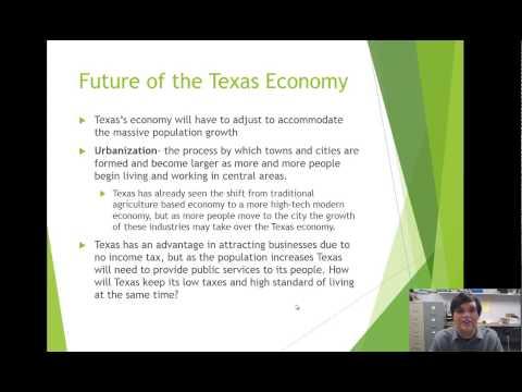 TX GOVT 2306-Week 15 Texas Economy