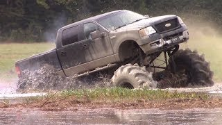 STUCK!!!  DEEP MUD AT MUD TRUCK MADNESS OFF-ROAD PARK!!