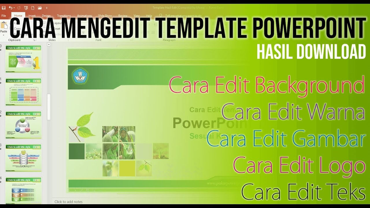 Cara Edit Exclusive Template Powerpoint Pakar Tutorial Youtube