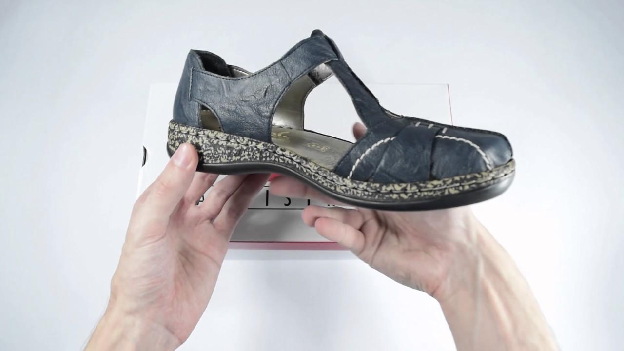 670efce5a1fcf Dámske sandále Rieker 46380-14 /1301000/ - YouTube