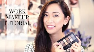 Everyday Work Makeup Tutorial ft. The Nudes Palette, work makeup, everyday makeup, nudes palette