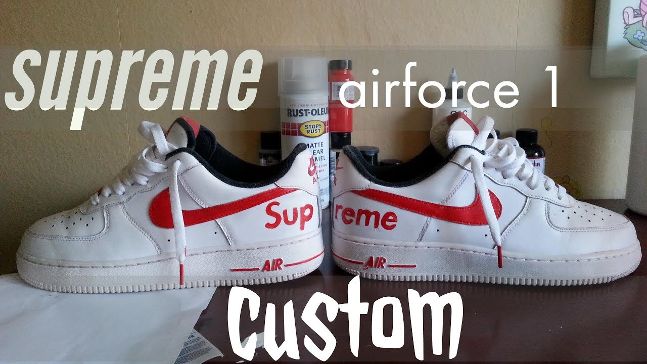 3fd571d75cf9 Supreme Nike air force custom - YouTube