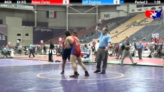 Video Last Chance Qual. 84 KG: Adam Carey (TWC) vs. Jeff Zastrow (Air Force Wrestling) download MP3, 3GP, MP4, WEBM, AVI, FLV November 2017