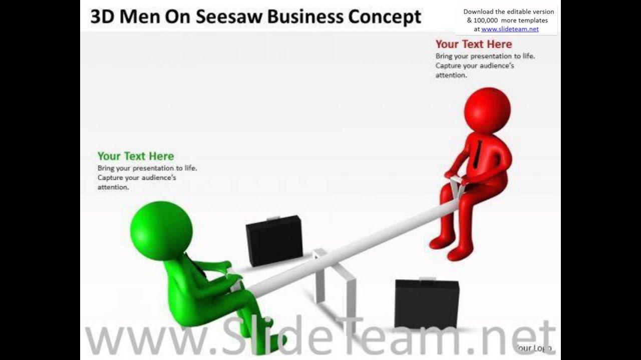 work flow business process diagram seesaw powerpoint