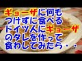 【日本好き外国人】ギョーザに何もつけずに食べるドイツ人にギョーザのタレを作って食わしてみたら感動爆発