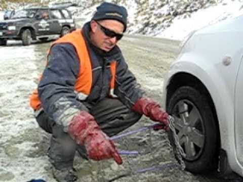 Fitting Snow Chains - Gregory Noye - Cardrona Ski Resort