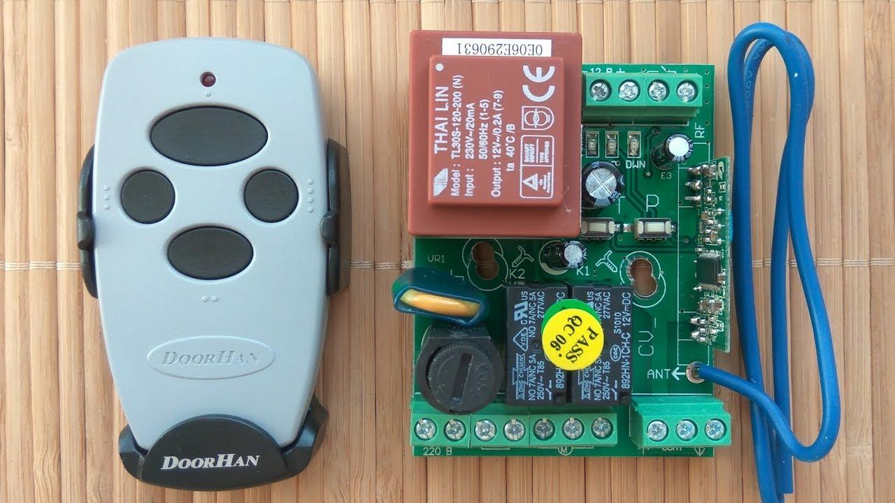 программирование пульта Doorhan для блока Cv01 на рольставни и гаражные секционные ворота дорхан