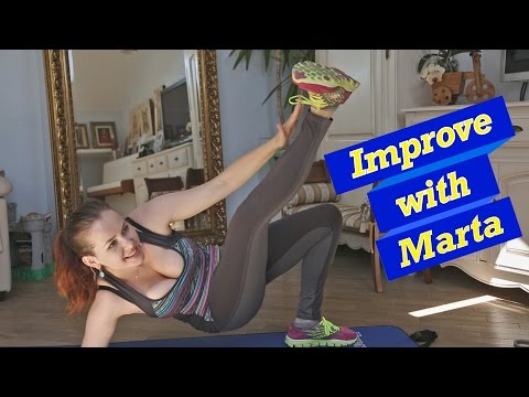 Kick with the straight  leg in the air - Improve with Marta