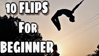 10 Flips for begiฑners | 10 flips anyone can learn | easy flips and tricks