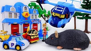 Giant Rat in The Brooms Town~! Robocar Poli, Rescue Your Friends