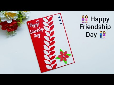 DIY Beautiful Handmade Friendship Day Card idea / How to make greeting cards for friends
