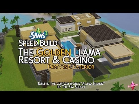 The Golden Llama Resort & Casino (Sims 3 Speed Build)