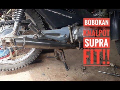 Inilah Proses Bobok Knalpot Standar Motor Honda Supra Fit Jadi Knalpot Racing