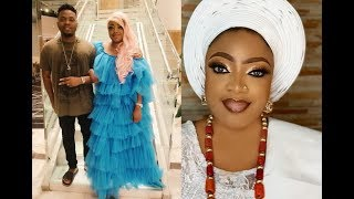 Actress Tayo Sobola And His Brother seriously Dancing As Olamide Sing For Them At Their Mum Burial