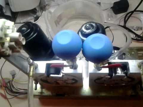 Testing self-made peristaltic pump (epoxy dispenser)