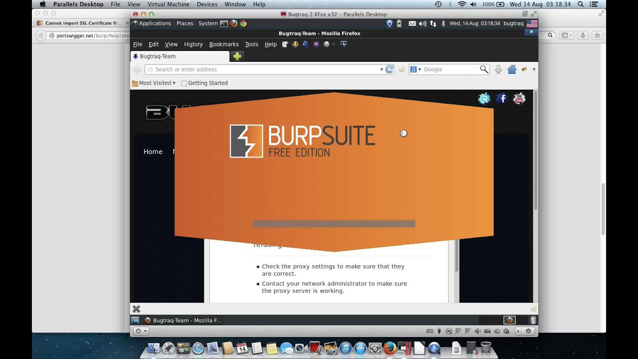 Burp Suite cannot import SSL Certificate on Firefox 23 0