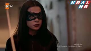 Kertenkele Yeniden Doğuş 72. Bölüm Akıncı Ay Yıldızlı Maskeli Kız Sahnesi