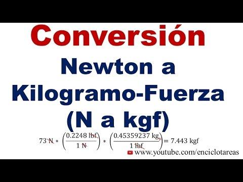 1 kilogramo fuerza a newton