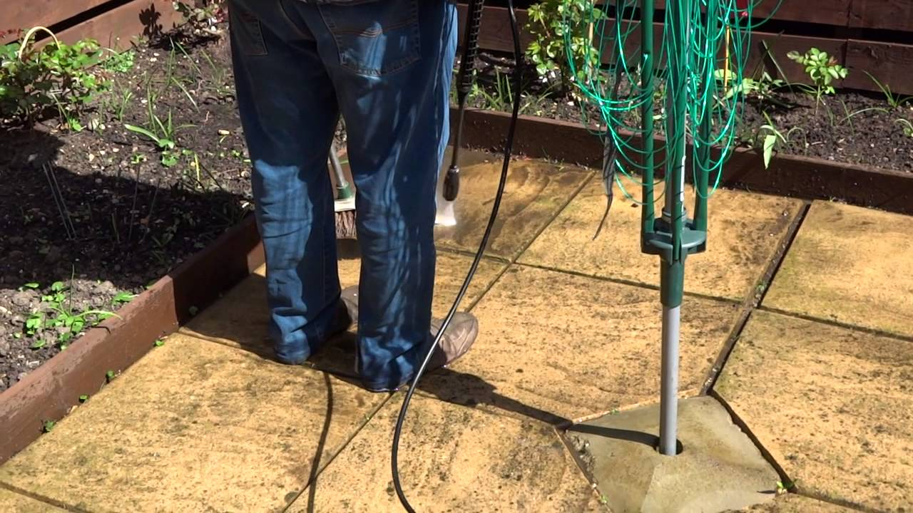 How To Clean Patio With Karcher K2   YouTube