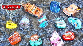 Download Disney Cars 3 Mater Plays with Lightning Mcqueen and Piston Cup Racers and Pushes Them in Mud! Mp3 and Videos