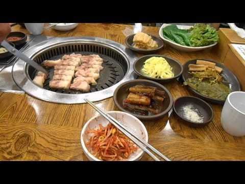 กินหมูย่างเกาหลี ที่ปูซาน 17 August 2014