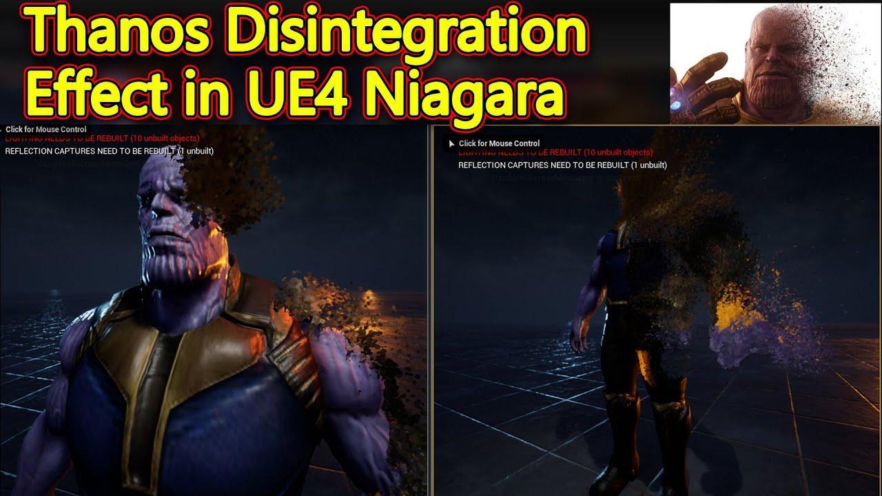 Unreal Engine Thanos Disintegration in Niagara   CGHOW