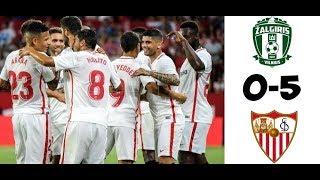 Zalgiris Vilnius 0-5 Sevilla Maç Özeti & Goller (Highlights & Goals)
