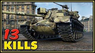 M48A1 Patton - 13 Kills - 1 VS 7 - World of Tanks Gameplay