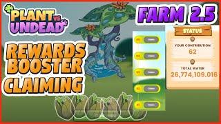 PVU FARM 2.5 ACTUAL CLAIMING OF REWARDS BOOSTER - BEST NFT GAMES - BLOCKCHAIN GAMES - SEEDS SAPLING