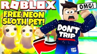 Comment obtenir un PET NEON SLOTH GRATUIT dans Adopt Me NEW Sloth Update! (Roblox)