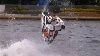 隅田川水面の祭典 2013 big backflip バックフリップ 水上オートバイ 5...
