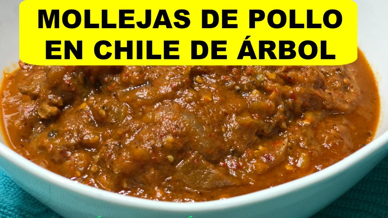 Mollejas De Pollo En Chile De árbolmejorado