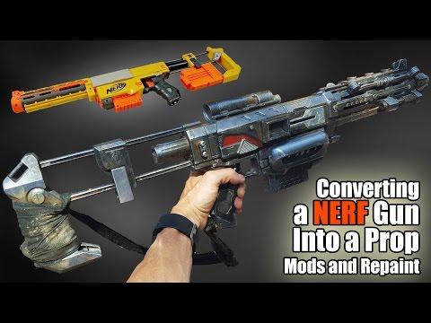 Converting a NERF Recon Dart Gun into a Sci-Fi prop.