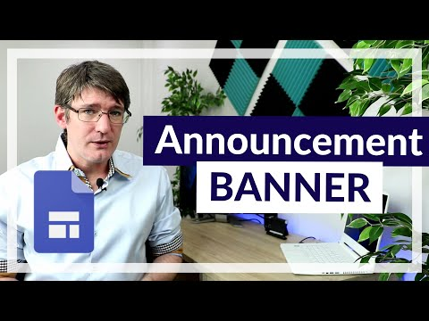 Google Sites Announcement banners (Let your visitor know!)