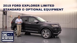 2019 FORD EXPLORER LIMITED STANDARD AND OPTIONAL EQUIPMENT