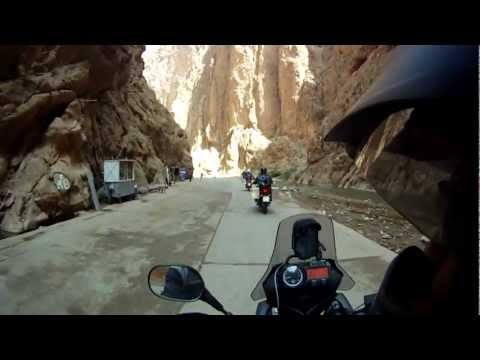Riding into the Todra Gorge