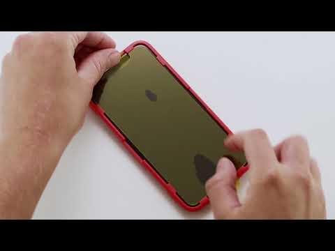 InvisibleShield Glass+ Anti Glare IPhoneX Install