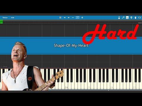 Sting - Shape Of My Heart - Tutoriel Piano HARD