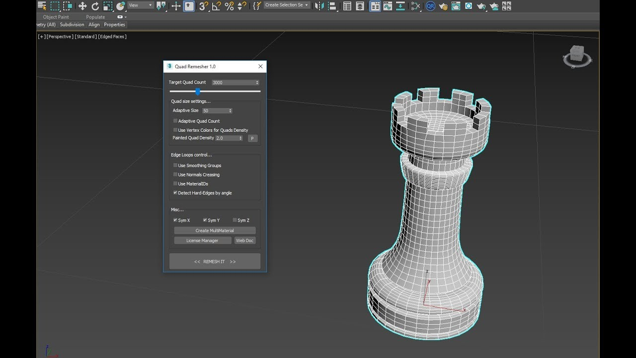 Check out neat retopology tool QuadRemesher | CG Channel