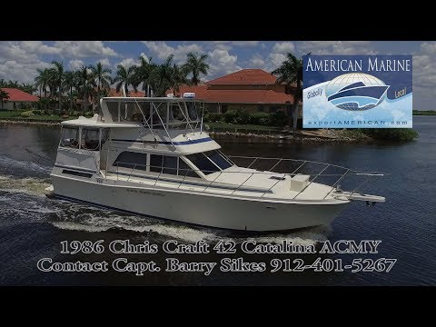 SOLD - 1986 42' Chris Craft 42 Catalina ACMY HD By American Marine